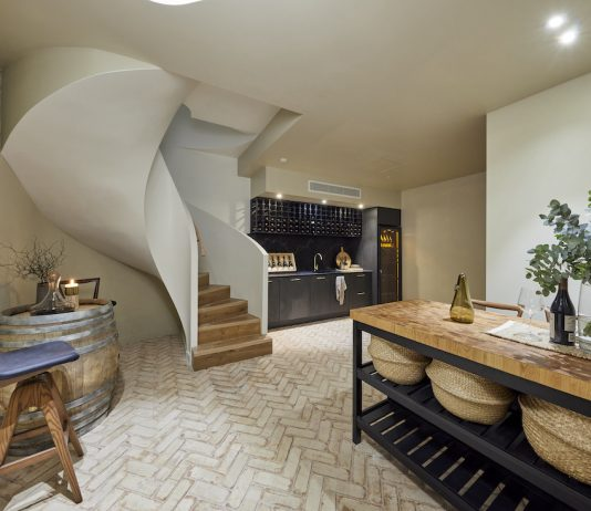 Basement cellar and wine room