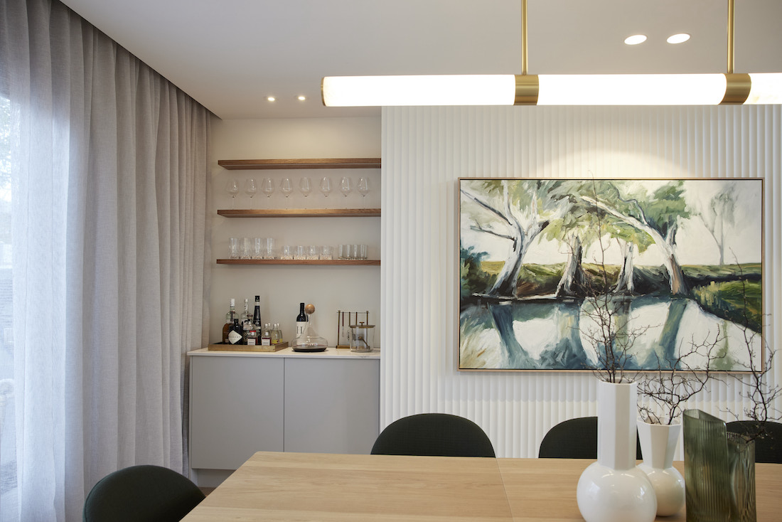 Bar area in dining room
