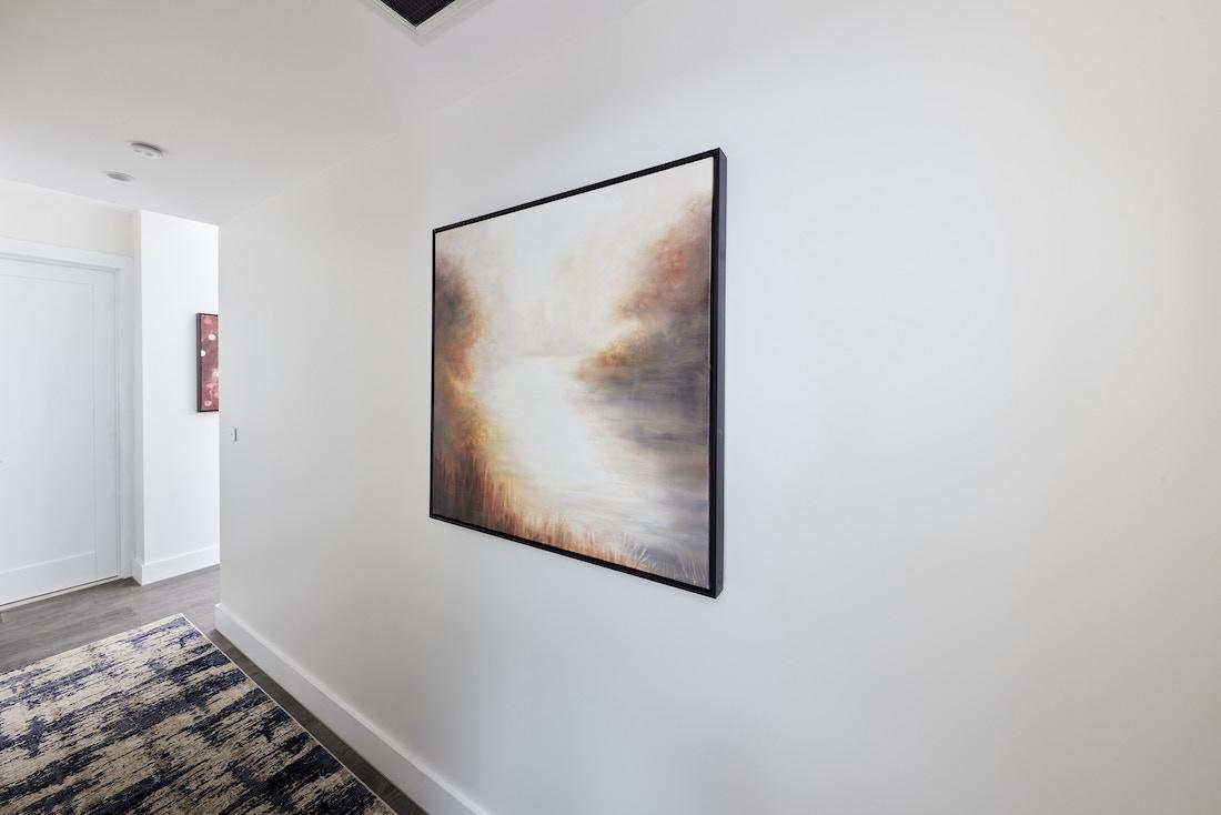 Hallway with artwork