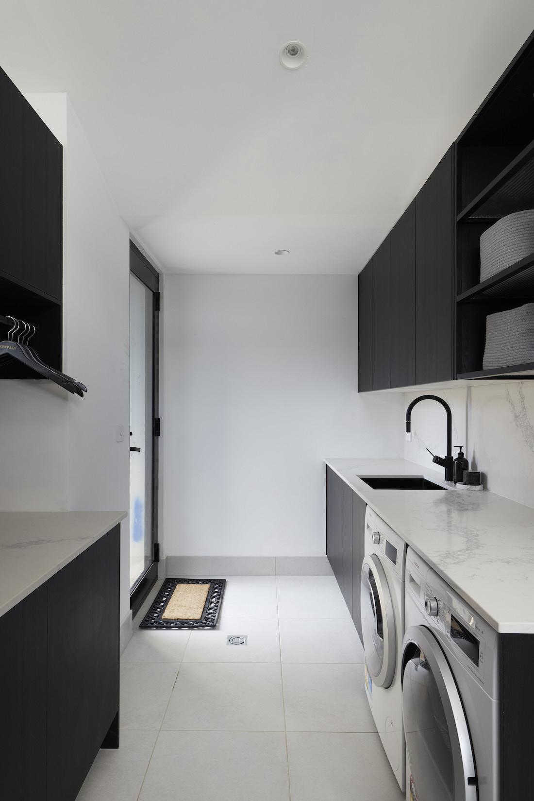 Large black and white laundry