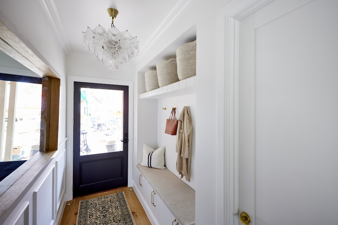 Mudroom with built-in bench seat