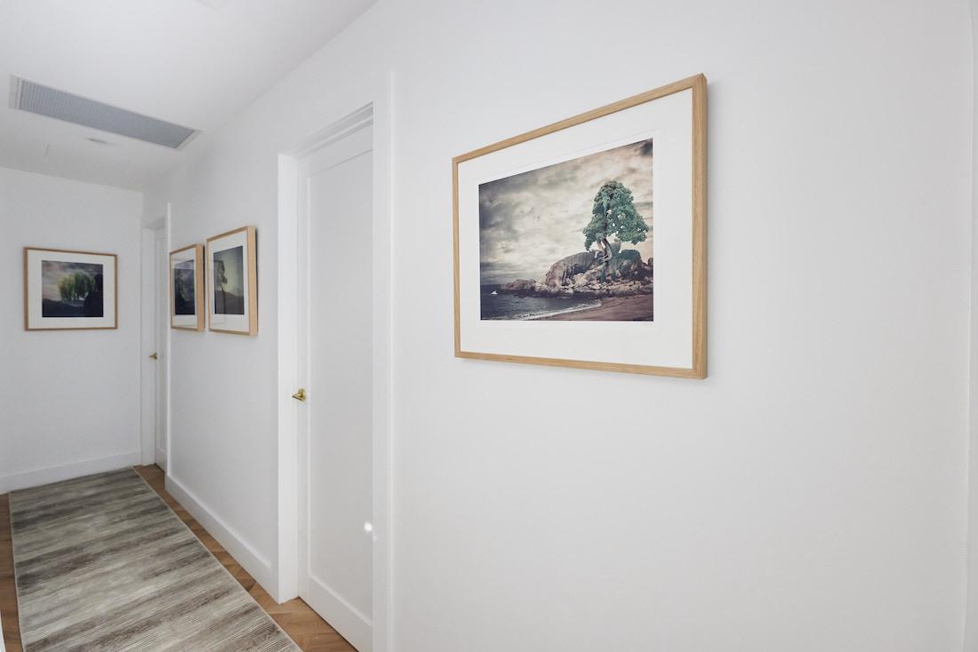 Small hallway with artwork