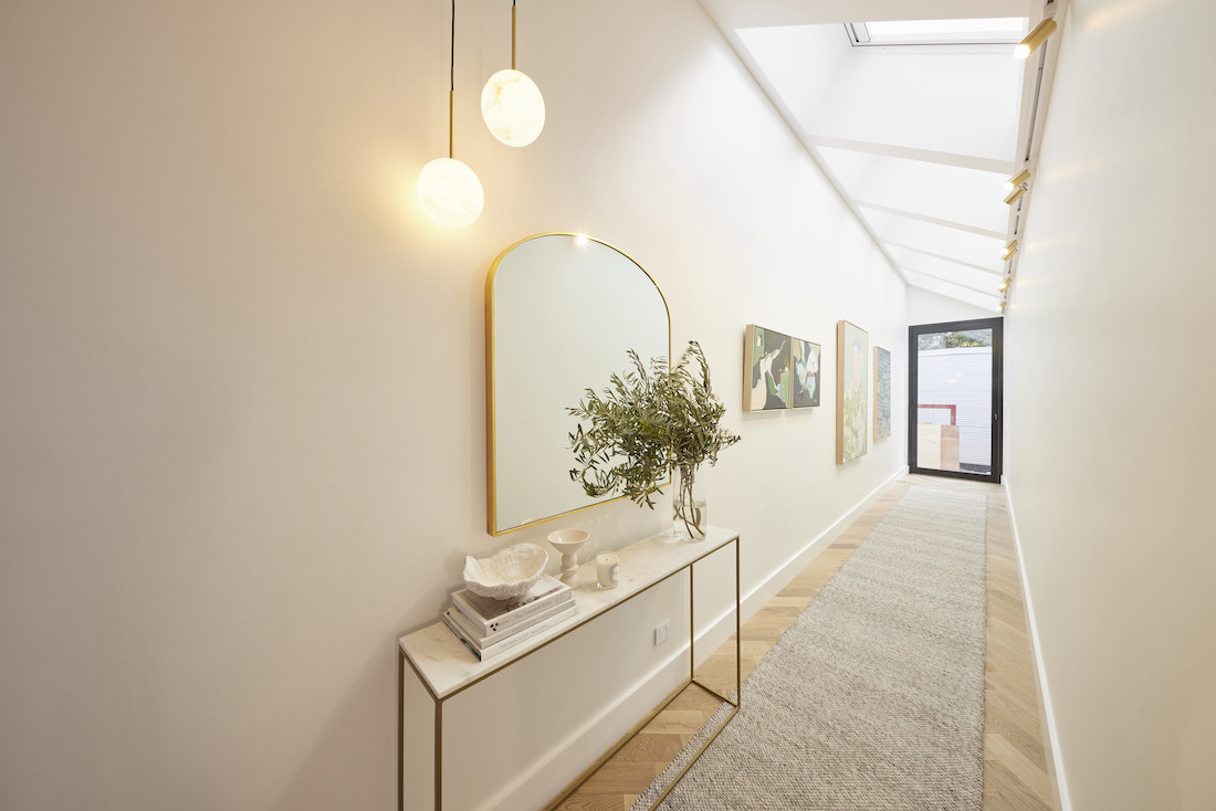 Console table in hallway