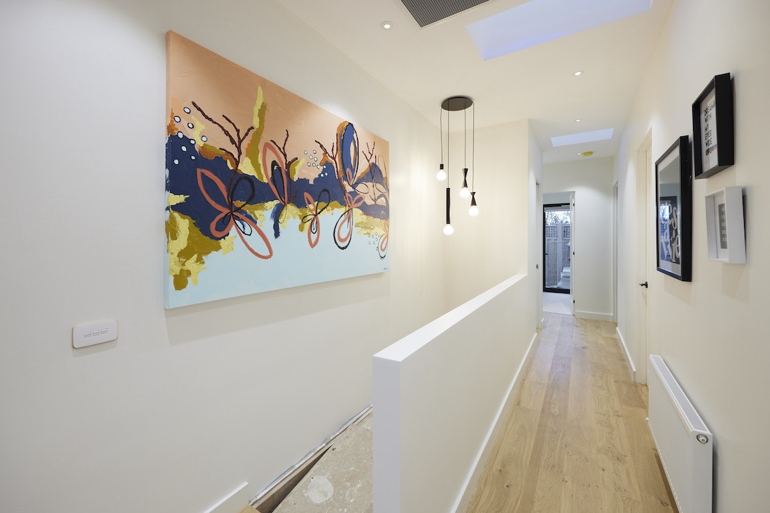 Hallway with artwork feature